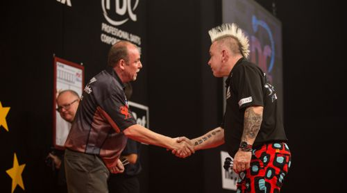 Ronny Huybrechts und Peter Wright