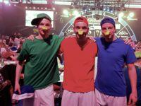Kim, Tobias und Daniel(v.l.) verkleideten sich als Tick, Trick und Track