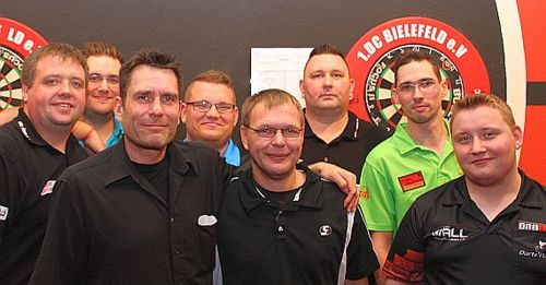 Die Finalisten der Super League Darts Germany 2016