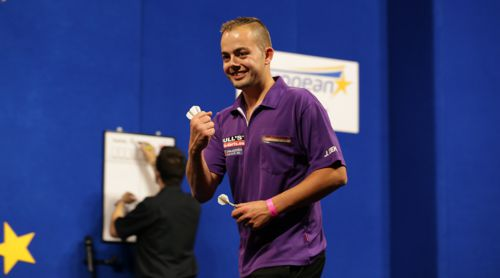 Jan Dekker erreichte beim European Darts Grand Prix im Mai 2017 das Viertelfinale