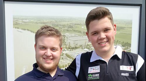 Doppel-Sieger am Freitag: Philipp Hagemann (links) und Aaron Rahlfs