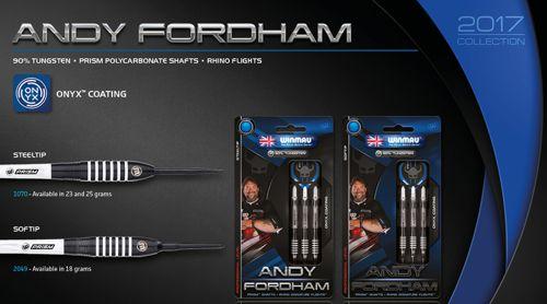 Andy Fordham Darts werden von Winmau hergestellt