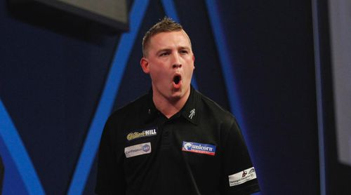 Chris Dobey bei der World Darts Championship