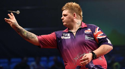 Der Australier Corey Cadby sorgte mit dem Sieg über Raymond van Barneveld für die erste Überraschung bei den Melbourne Darts Masters