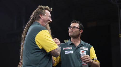 Damon Heta und Simon Whitlock aus Australien