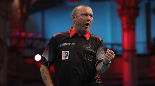 Darren Webster beim World Matchplay 2018