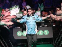 Daryl Gurney beim Premier League Darts Walk on