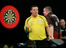Dave Chisnall und Stephen Bunting