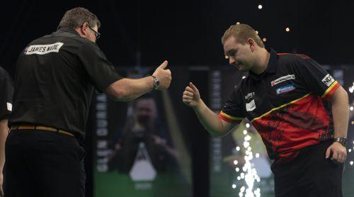 Dimitri Van den Bergh und James Wade schiedlich, friedlich, unentschieden