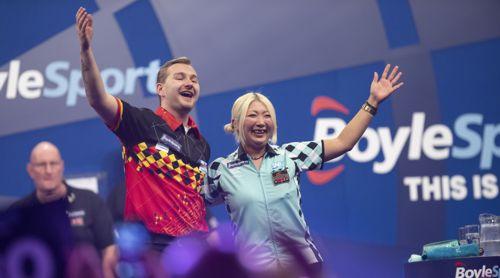 Dimitri Van den Bergh ohne Mühe gegen die Weltmeisterin