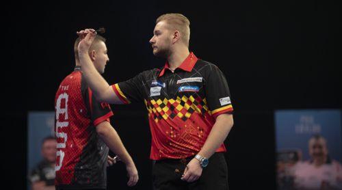 Dimitri Van den Bergh zieht vorzeitig in das Achtelfinale des Grand Slam ein