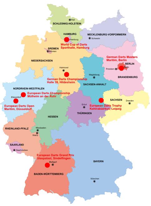 Deutschland Dart Turniere