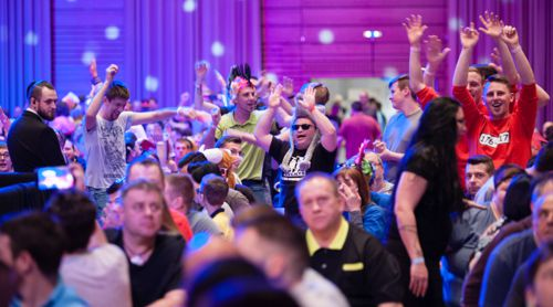 Deutsche Dartfans bei den German Darts Ope