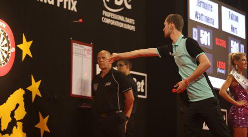 Fabian Herz beim European Darts Grand Prix 2016