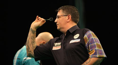 Gary Anderson ohne Probleme mit Rob Cross