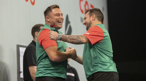Gerwyn Price und Jonny Clayton sind dicke Freunde