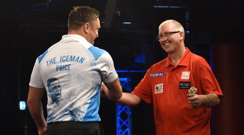 Gerwyn Price traf bei den UK Open 2018 abermals auf Paul Hogan und setzte sich erneut durch