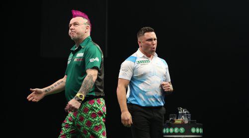 Gerwyn Price und Peter Wright - Premier League Darts 2018