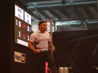 Gerwyn Price beim European Darts Grand Prix 2016