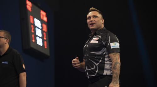 Gerwyn Price happy