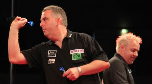 James Richardson und Peter Wright bei den Austrian Darts Open 2012