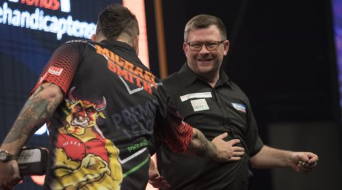James Wade hat gegen Michael Smith gut lachen