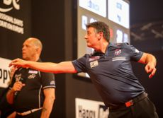 Justin Pipe bei der European Darts Trophy 2016