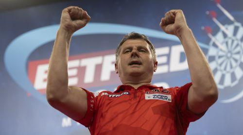 Krzysztof Ratajski freut sich, erstmals in ein Major-Halbfinale einzuziehen