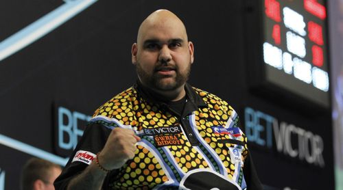 Kyle Anderson beim PDC World Matchplay Darts
