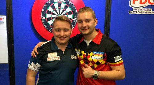 Martin Schindler und Dimitri Van den Bergh im Junioren-WM-Finale