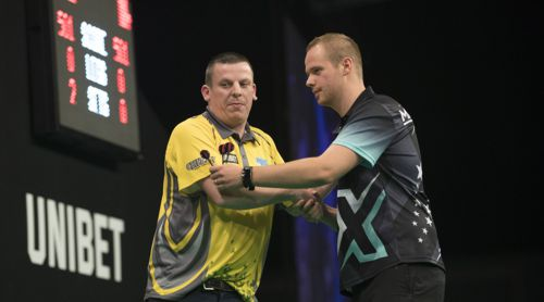 Max Hopp musste sich Dave Chisnall geschlagen geben