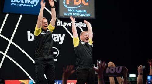 Max Hopp und Martin Schindler spielen unter deutscher Flagge