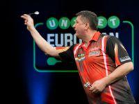 Mensur Suljovic gewann seine Auftaktpartie bei der European Darts Championship äußerst knapp