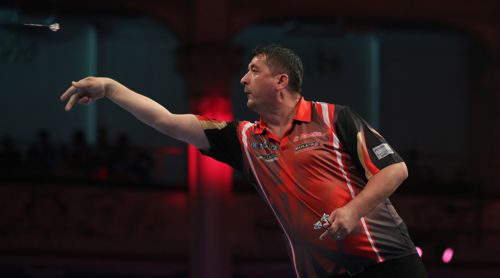 Mensur Suljovic beim PDC World Matchplay 2017