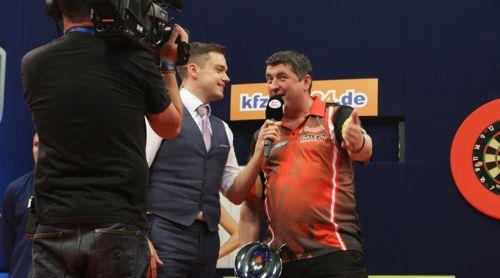 Mensur Suljovic im Interview nach seinem Sieg