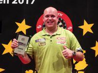 Michael van Gerwen besiegte Rob Cross im Finale der European Darts Trophy mit 6:4 und verteidigt damit seinen Titel