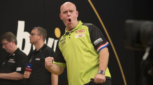 Michael van Gerwen wirft Darts auf allerhöchstem Niveau