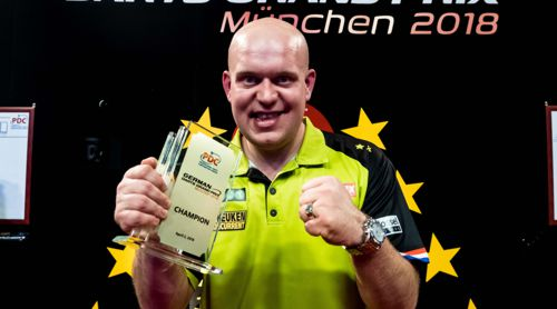 Michael van Gerwen besiegte Peter Wright im Finale des German Darts Grand Prix mit 8:5