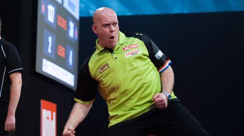 Michael van Gerwen freut sich über seinen nächsten Turniersieg