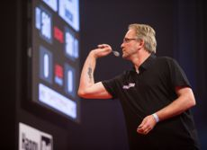 Mike Holz bei der German Darts Championship in Hildesheim