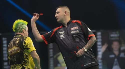 Nathan Aspinall und Peter Wright Premier League