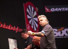 Peter Wright zeigte in Dubai gegen van Gerwen eine starke Leistung
