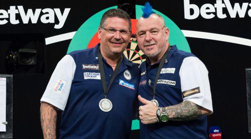 Gary Anderson und Peter Wright mussten sich erneut mit der Silbermedaille zufrieden geben
