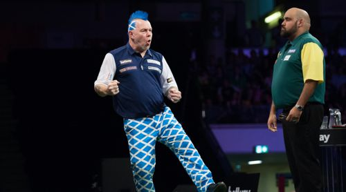 Peter Wright im Duell mit Kyle Anderson