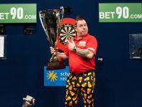 Peter Wright möchte auf Schalke seinen Titel der German Darts Masters verteidigen