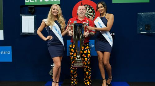 Peter Wright und die Walk on Girls