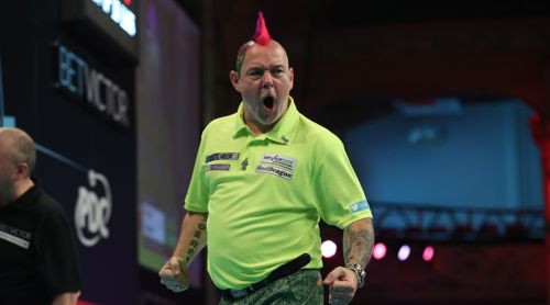 Peter Wright: bunt wie immer