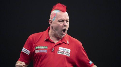 Peter Wright - diesmal ganz in rot