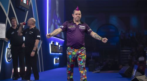 Peter Wright in voller Pracht