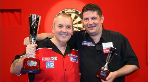 Gary Anderson und Phil Taylor